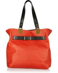 Christian Louboutin Sybil Reversible Leather Tote - Lyst