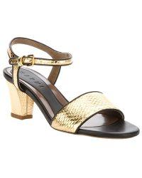 Marni Block Heel Sandal - Lyst