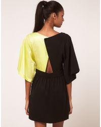 Very By Vero Moda Vero Moda Very Colour Block Open Back Dress - Lyst