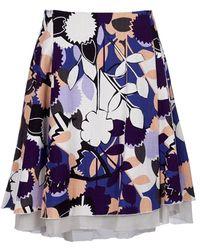 Diane von Furstenberg Floral Full Skirt blue - Lyst