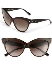 Dior 'Mohotani' 58Mm Cat Eye Sunglasses - Havana/ Black black - Lyst