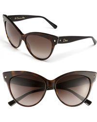 Dior Women'S 'Mohotani' 58Mm Cat Eye Sunglasses - Havana/ Black - Lyst