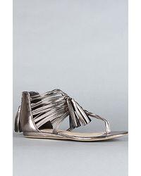DV by Dolce Vita The Ilana Sandal in Dark Silver Flash Stella - Lyst