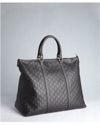 Gucci Ssima Leather Large Tote - Lyst