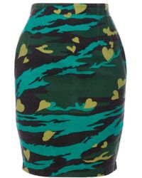 Jean Paul Gaultier Printed Skirt green - Lyst