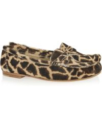 Brian Atwood Hampton Animalprint Calf Hair Loafers - Lyst