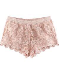 H&M Shorts beige - Lyst