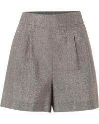 Biba | Metallic Linen Shorts | Lyst