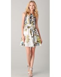 Cynthia Rowley Mixed Distorted Floral Dress - Lyst