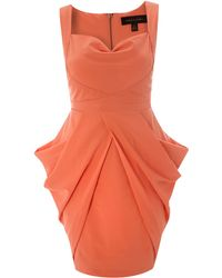 House of Dereon - Sleeveless Structured Dress - Lyst