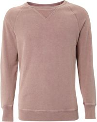 Label Lab - Over Dyed Crew Neck Sweat Shirt - Lyst