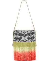 Matthew Williamson Graphic Ikat Fringe Shoulder Bag - Lyst