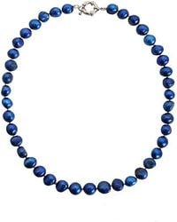Minuet Petite - Mid Blue Fresh Water Pearl Necklace - Lyst