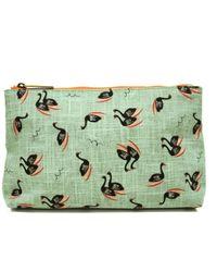 Ollie & Nic - Suzie Swan Print Wash Bag - Lyst