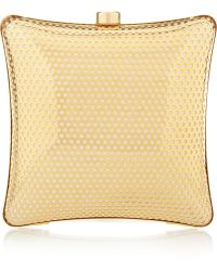 Stella McCartney Satinlined Perforated Box Clutch - Lyst