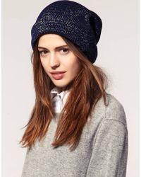 ASOS - Asos Metallic Knit Beanie - Lyst