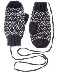 ASOS - Asos Wool Fairisle Mittens with Detachable String - Lyst