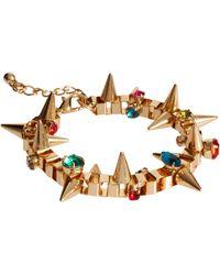ASOS - Asos Jewelled Spike Bracelet - Lyst
