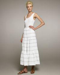 Eskandar - Petticoat Skirt Whiteblue - Lyst
