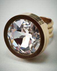Lanvin Rhinestone Ring gold - Lyst