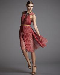 Lanvin Pleated Tulle Dress - Lyst