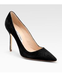 Manolo Blahnik Bb Suede Pointtoe Pumps - Lyst