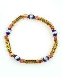 Vanessa Mooney Danger Zone Beaded Bracelet Blue - Lyst