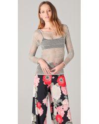 Alice + Olivia Cherie Metallic Sweater - Lyst