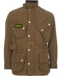 Barbour Belt Jacket - Lyst