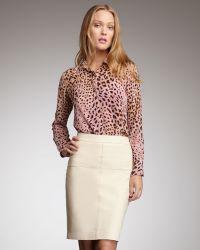 Graham & Spencer - Topstitched Pencil Skirt - Lyst