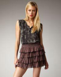 Kelly Wearstler Lobelia Printed Tiered Skirt - Lyst
