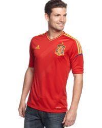 Adidas Spain Climacool Home Soccer Jersey - Lyst
