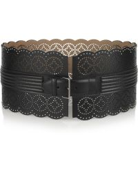 Alaïa Perforated Leather Waist Belt - Lyst