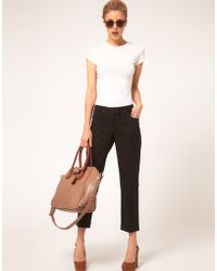ASOS Collection  Slim Cropped Ankle Grazer Trousers - Lyst