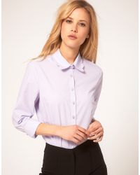 ASOS Collection Asos Shirt with Scalloped Collar - Lyst