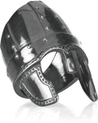 Aurelie Bidermann Perceval Oxidizedsilver Helmet Ring black - Lyst