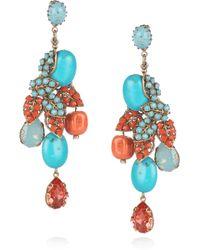 Bijoux Heart | 24karat Goldplated Swarovski Crystal Earrings | Lyst