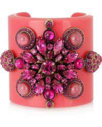 Emilio Pucci Plexiglass and Crystal Cuff - Lyst