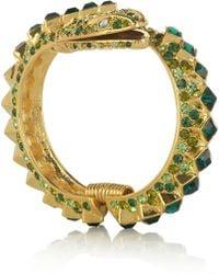 Kenneth Jay Lane 22karat Goldplated Crystal Snake Bracelet - Lyst