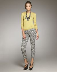Lela Rose Staticprint Cotton Pants - Lyst