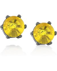 Marc By Marc Jacobs Brass and Glass Crystal Stud Earrings - Lyst