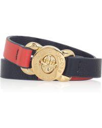 Marc By Marc Jacobs Katie Twotone Leather Wrap Bracelet - Lyst
