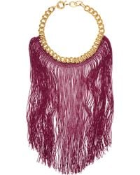 Missoni Goldtone Chain and Fringed Necklace - Lyst
