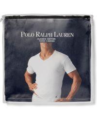 Polo Ralph Lauren Three Pack Cotton V-neck T-shirts - Lyst