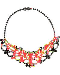 Tom Binns Splash Out Rhodiumplated Swarovski Crystal Necklace - Lyst