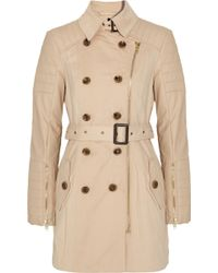 W118 by Walter Baker Keanu Faux Leathersleeved Cottontwill Trench - Lyst