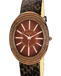 Badgley Mischka   Embossed Leather Strap Watch   Lyst