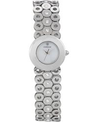 Carolee - Womens Stainless Steel and Crystal Accent Link Bracelet 22mm - Lyst