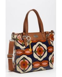 Fossil Vintage Keyper Coated Canvas Tote - Lyst