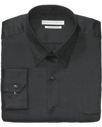 Geoffrey Beene Sateen Solid Dress Shirt - Lyst